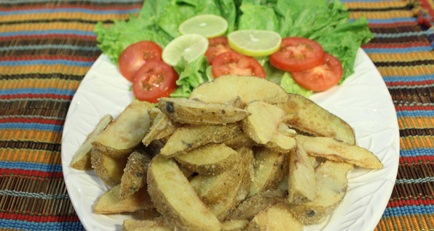 Garlic Skinny Fries by Chef Gulzar