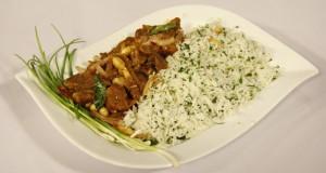 Beef Penang with Garlic Rice