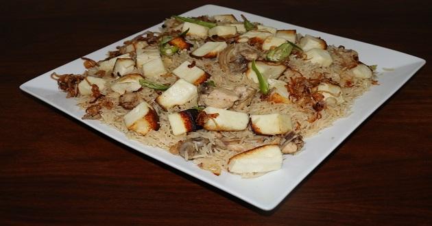 Cheese and Chicken Pulao by Zubaida Tariq in Handi