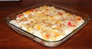 FRUIT WITH FRESH CREAM AND NUTS by Zubaida Tariq in Handi