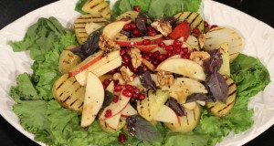 Grilled potato and apple salad