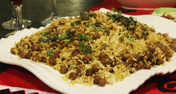 Chana Biryani by Zarnak Sidhwa