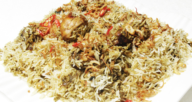 Green Chicken with Coconut Rice by Zubaida Tariq