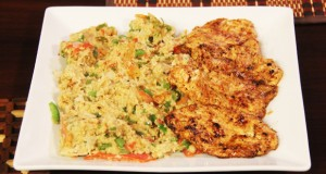 Grilled Chicken with Oats