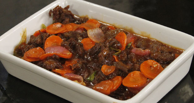 Fried Beef with Sweet and Sour Sauce by Shireen Anwar