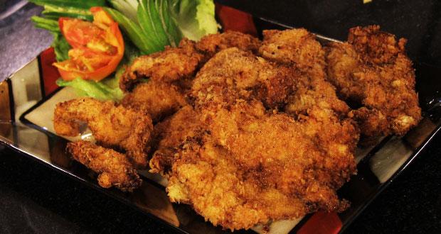 Crunchy Chicken Strips by Shireen Anwar