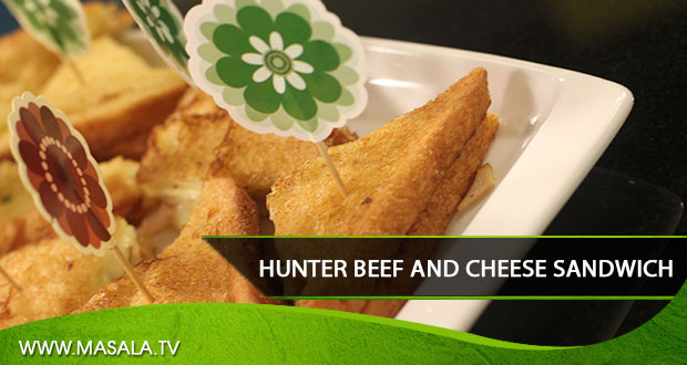 Hunter Beef and Cheese Sandwich