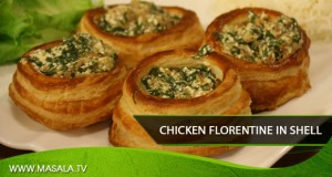 Chicken Florentine in a Shell By Shireen Anwar