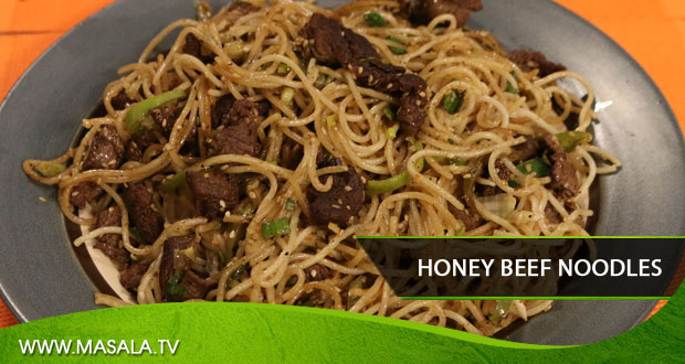 Honey Beef Noodles by Zubaida Tariq