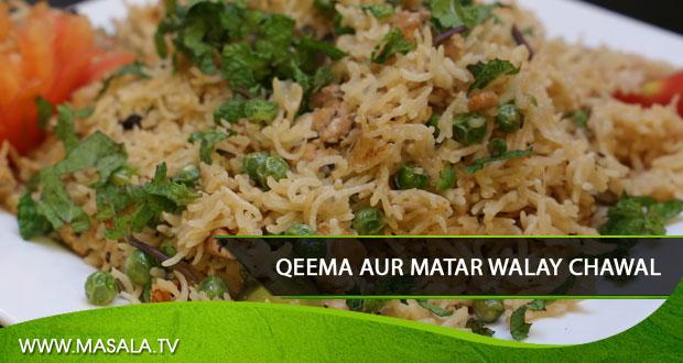 Qeema aur Matar Walay Chawal