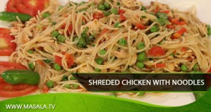 Shreded Chicken with Noodles by Rida Aftab