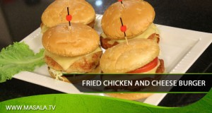 Fried Chicken and Cheese Burger
