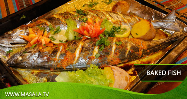 Spiced Baked Fish by Tahir Chaudhary