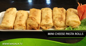 Mini Cheese Pasta Rolls by Shireen Anwar