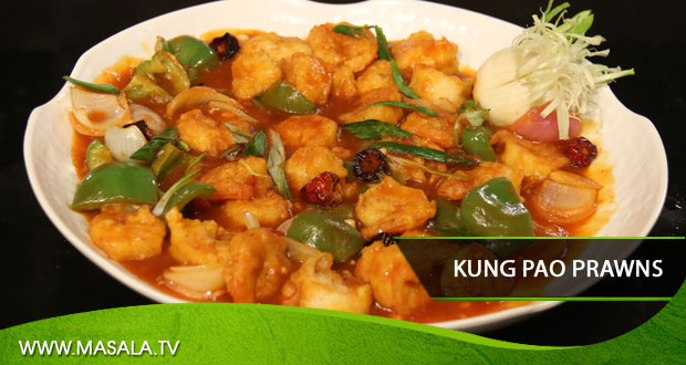 Kung Pao Prawns by Shireen Anwar