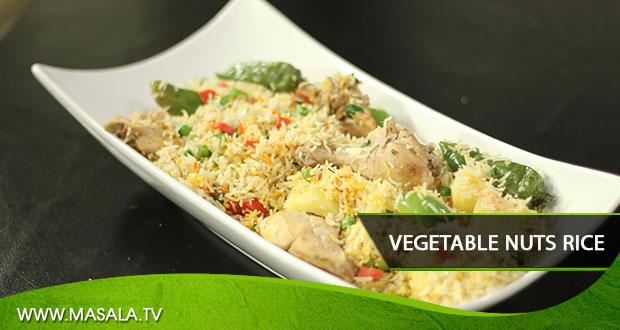 Vegetable Nuts Rice By Rida Aftab
