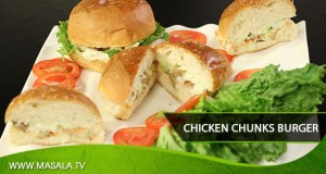 Chicken Chunk Burger By Rida Aftab