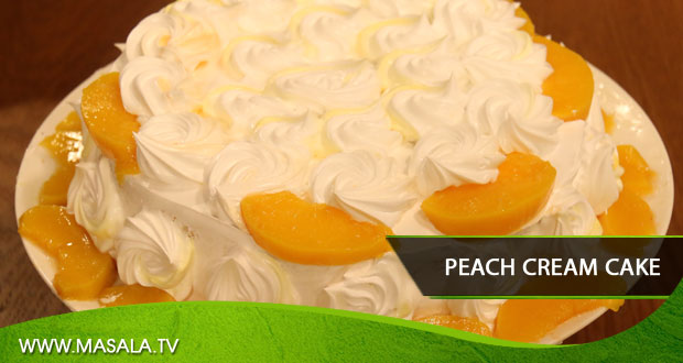 Peach Cream Cake by Shireen Anwar