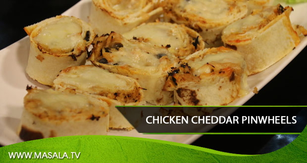 Chicken Cheddar Pinwheels by Shireen Anwar