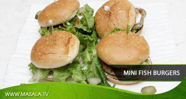 Mini Fish Burgers by Zarnak Sidhwa