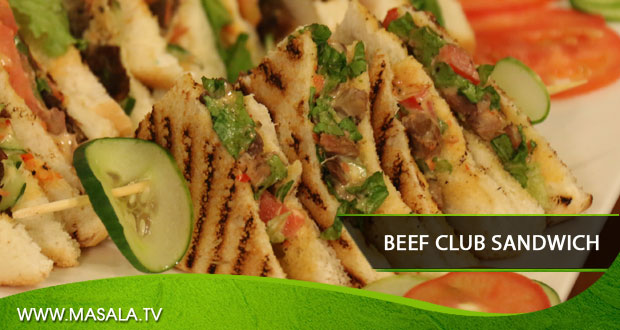Beef Club Sandwich by Gulzar Hussain