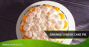 Orange cheese cake pie