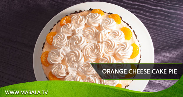 Orange cheese cake pie