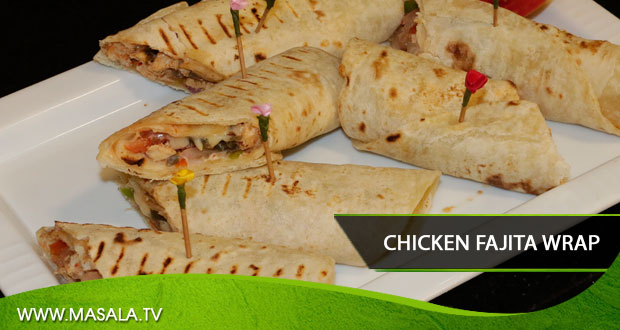 Chicken Fajita Wrap by Shireen Anwar