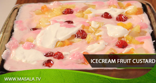 Icecream Fruit Custard By Rida Aftab