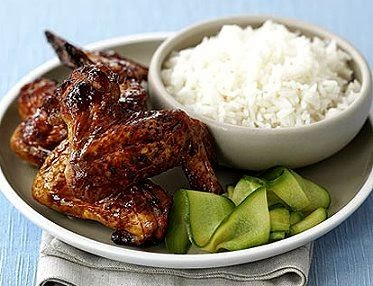 Sticky Wings and Rice Casserole