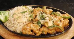 Chicken Sizzler with Garlic Rice