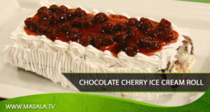 Chocolate Cherry Ice Cream Roll