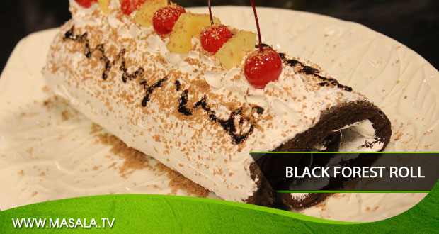 Cake Icing Recipe By Zarnak: Black Forest Roll By Shireen Anwar