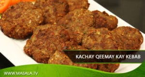 Kachey Qeemay kay Kabab