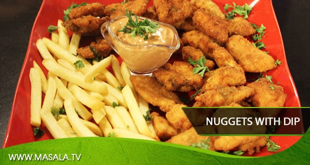 Nuggets with Dip