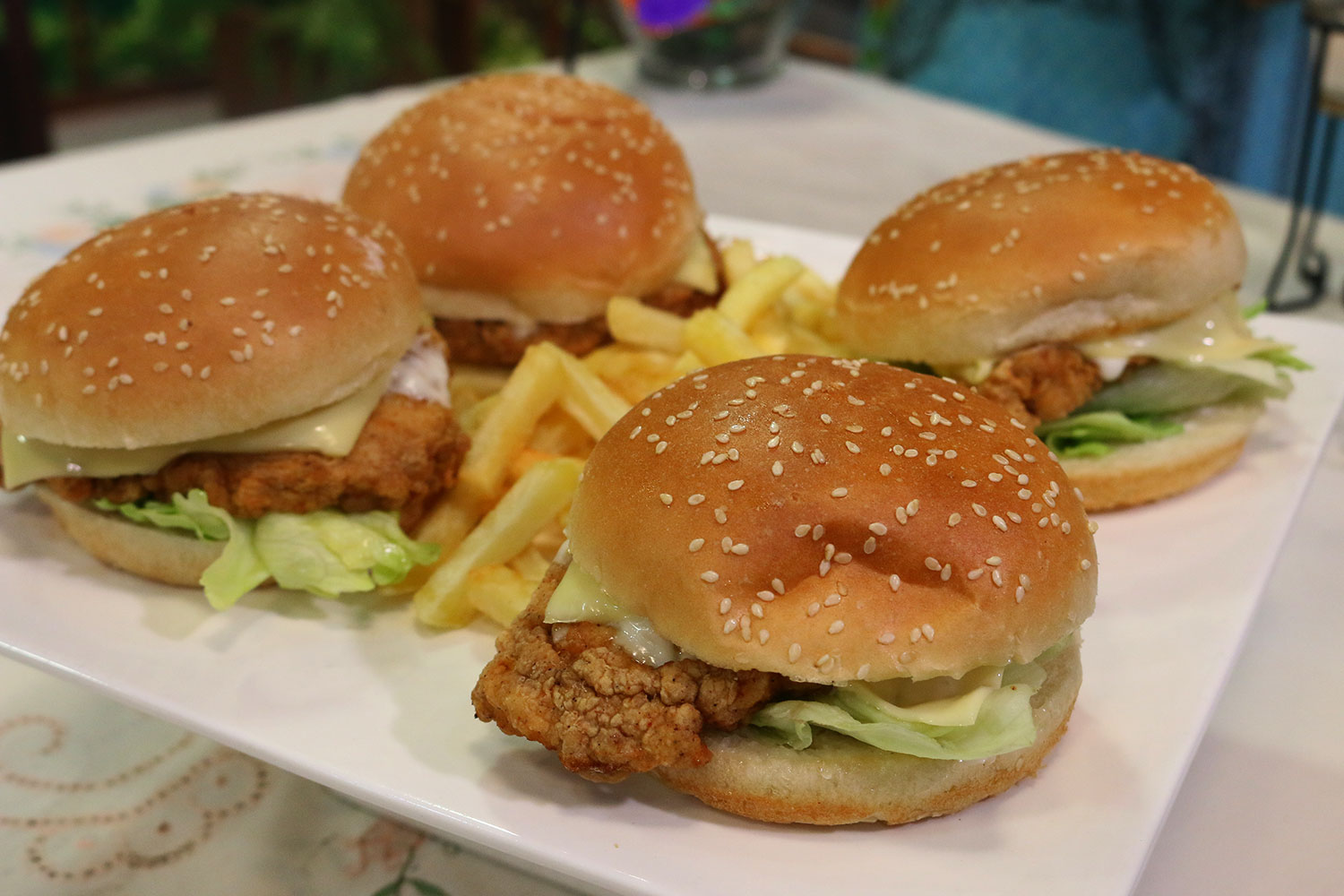 SPICY CHICKEN DELUXE BURGER BY SHIREEN ANWAR IN EVENING WITH SHIREEN