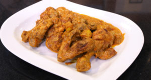 Curried Chicken Thighs By Basim Akhund in Flame On Hai