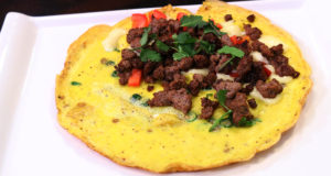 Beef and Cheese Open Faced Omelet By Chef Basim Akhund