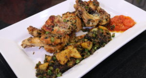 Chicken with Peas and Tomatoes By Basim Akhund in Flame on Hai