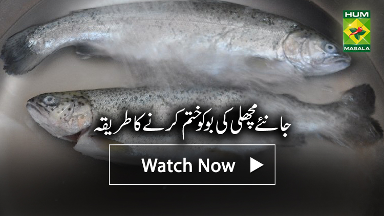 How to wash fish to remove smell masala tv for How to remove fish smell