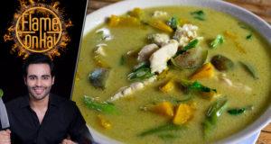 Green Pumpkin Curry by Chef Basim Akhund – Flame On Hai