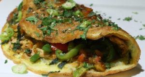 Chicken Stuffed Omelette