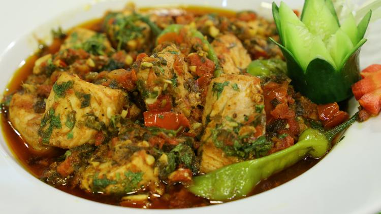 Green Masala Fish Karahi