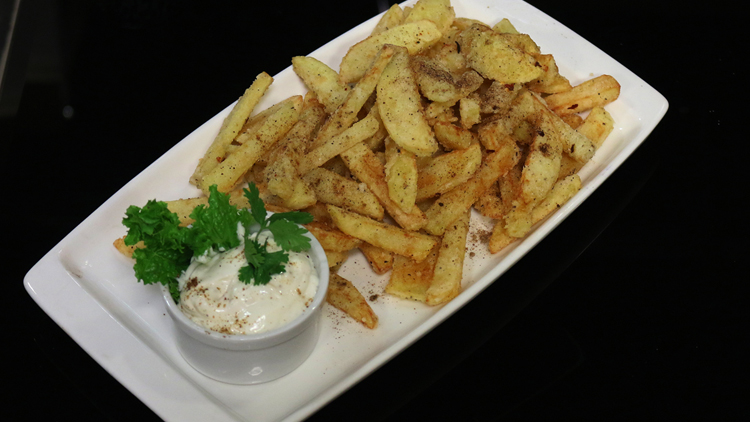 French Fries with Mayo Sauce