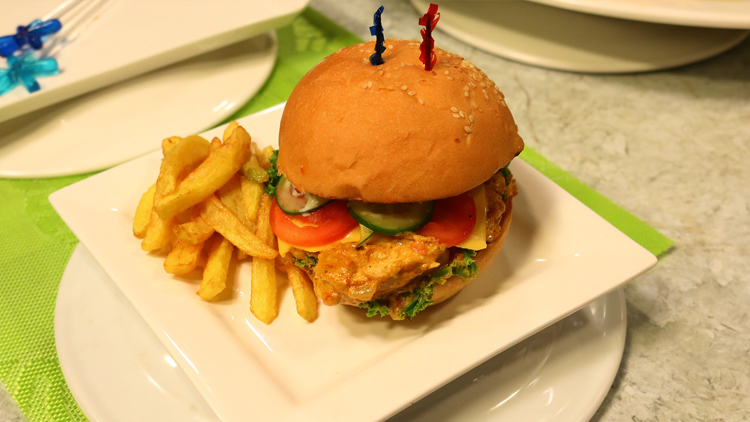 Cheese Butter Chicken Burger