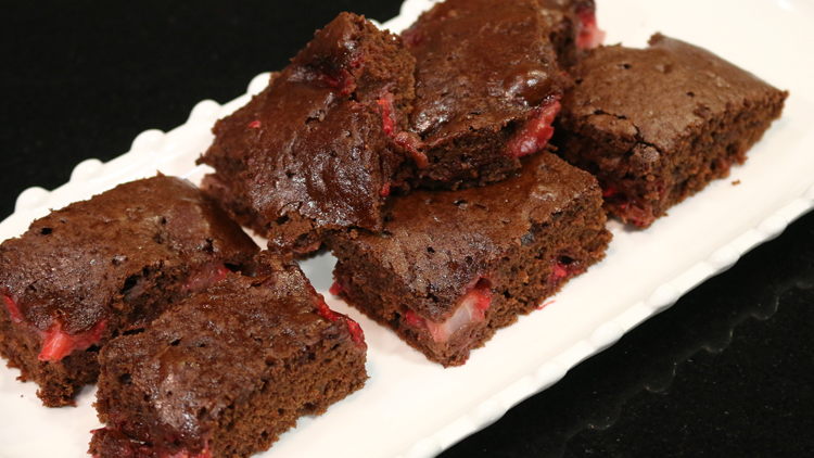 Chocolate and Strawberry Brownies