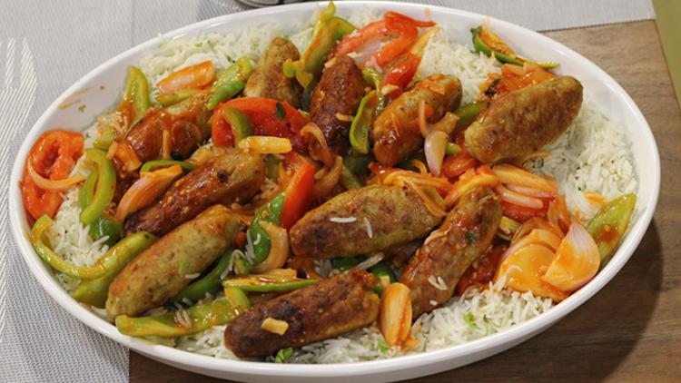 Shashlik Kabab with Rice