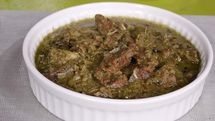 Green Mutton Handi