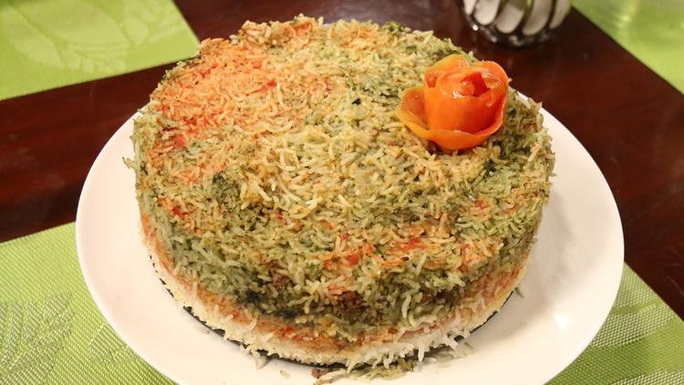 Rainbow Rice Cake