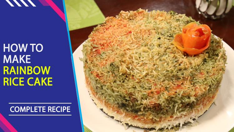 Rainbow Rice Cake Recipe In Urdu